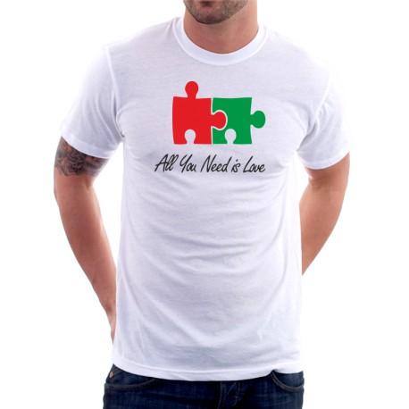 All You Need is Love - Pánské Tričko s vtipným potiskem