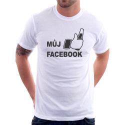 Pánské vtipné tričko Můj facebook
