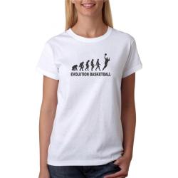 Dámské tričko Evoluce basketbal dárek pro ženu hrající basketbal