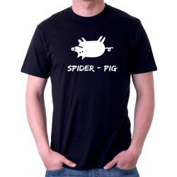 "Vtipné tričko s potiskem ""Spider Pig""."