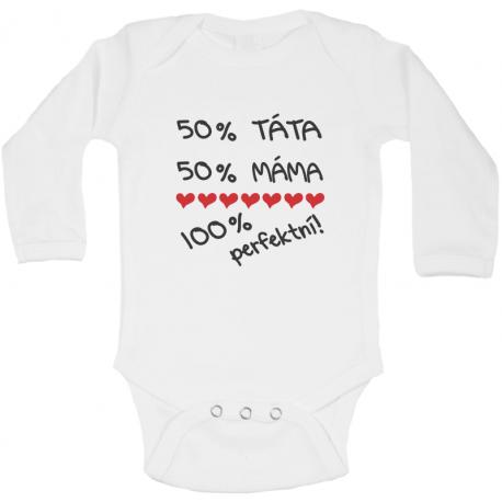 Body pro kojence s potiskem 100 procentne perfektní!