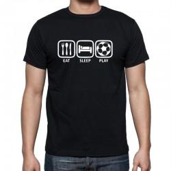 Pánské tričko s potiskem Eat, sleep, play fotbal