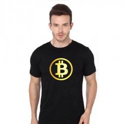 Tričko s potiskemznaku Bitcoin, dárek pro  milovníky kryptocurrency