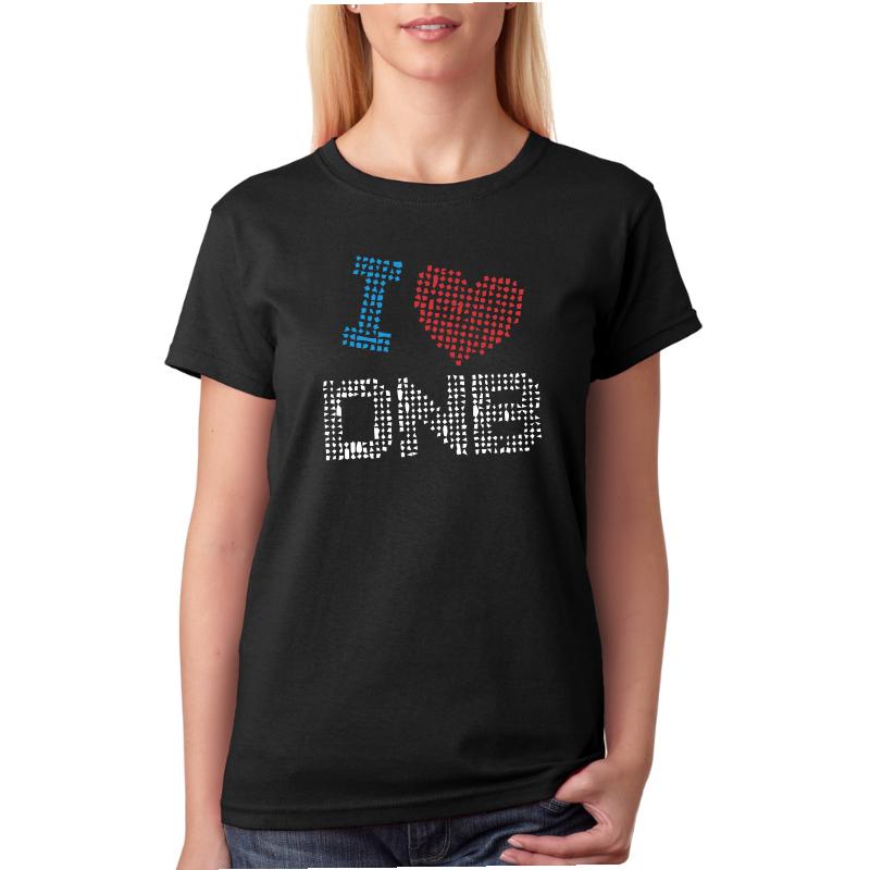 Tričko s potiskem I love DNB. Miluji Drum and Bass 3614217a82