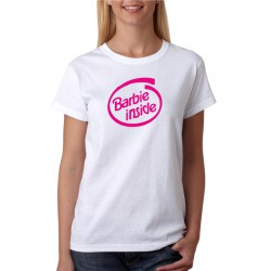 Barbie Inside - Dámské tričko s vtipným potiskem