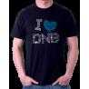 Tričko s potiskem I love DNB. Miluji Drum and Bass
