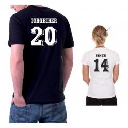 Set Triček TOGETHER / SINCE z rokem seznámení