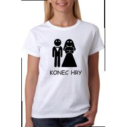 Svatební tričko dámské konec hry