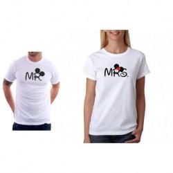Set partnerských triček Mr. a Mrs. Mickey