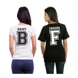 """Set triček pro BFF. 2 trička """"pro nejlepší kamarádky"""" B Best, F Friends"""