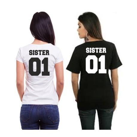 """b3f4f1e8410 Set triček pro BFF. 2 trička """"pro nejlepší kamarádky"""" Sister 01"""