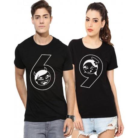 Set  triček s potiskem 69, trička pro páry