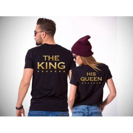 Sada triček The King / His queen, trička pro páry