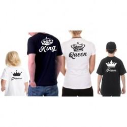 Sada triček King / Queen, trička pro páry