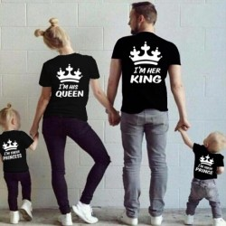 Sada triček pro páry I am her King / I am his Queen
