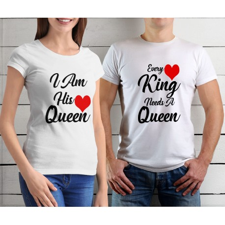 Sada triček pro páry Every King needs a Queen / I am his Queen