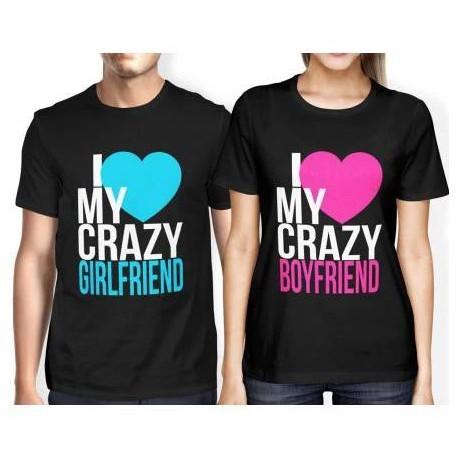 Sada triček pro páry I love my my crazy Girlfriend / Boyfriend