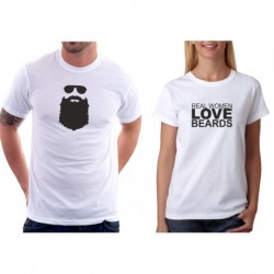 Trička pro páry Real Women Love Beards / Beards