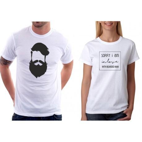Trička pro páry Bearded Man / Sorry I am in Love with Bearded Man