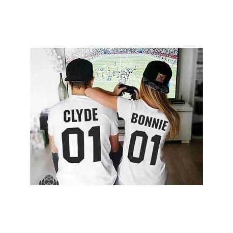 Trička pro páry Bonnie 01 / Clyde 01