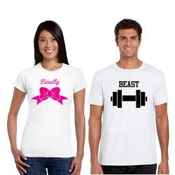 Trička pro páry Beauty / Beast