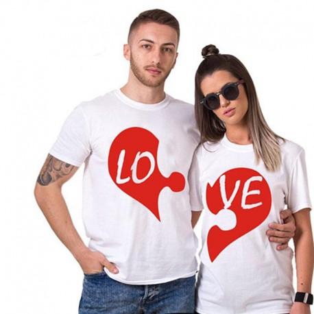Trička pro páry Love