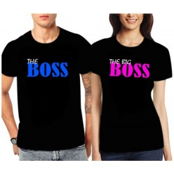 Trička pro páry The Boss / The Big Boss