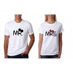 Trička pro páry Mr / Mrs Mickey Mouse