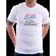 """Dárek k 25 narozeninám pro muže. Pánské tričko s potiskem """"25 let konečně životem zhýčkaný!"""""""
