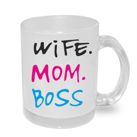Dárek pro Maminku hrníček Wife Mom Boss