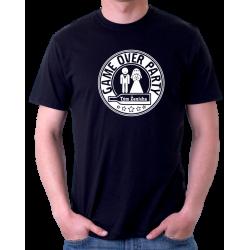 Pánské tričko Game Over Party tým ženicha, rozlučka se svobodou