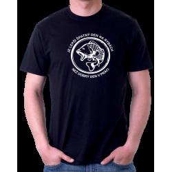 Pánské tričko Je lepší špatný den na rybách než dobrý den v práci, vtipný dárek pro rybáře