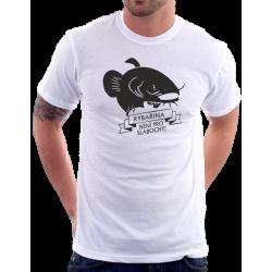 Pánské tričko pro rybáře s potiskem Rybařina není pro slabochy