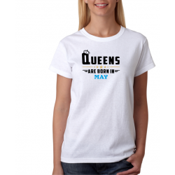 Dámské tričko Královny jsou narozeny v květnu
