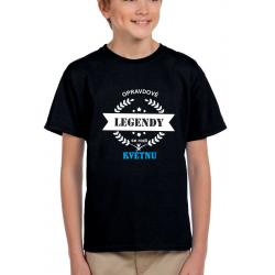 Dětské tričko opravdové legendy se rodí v květnu