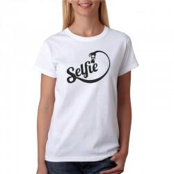 Dámské tričko s vtipným potiskem Selfie