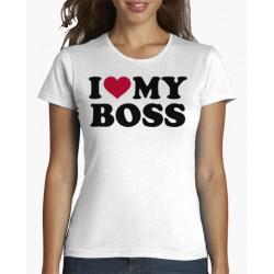 Dámské tričko I love my boss, mám ráda svého šéfa