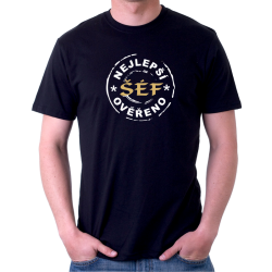 Pánské tričko nejlepší šéf ověřeno, dárek pro šéfa