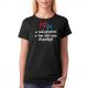 Dárek k 19 narozeninám pro dívku. Dámské tričko s potiskem 19 let a rok plnoletá a čím dál více dospělejší