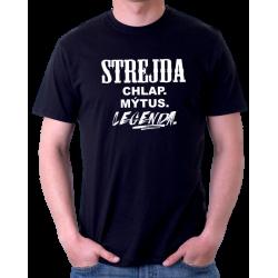 Pánské tričko Strejda, chlap, mýtus, legenda. Dárek pro strejdu