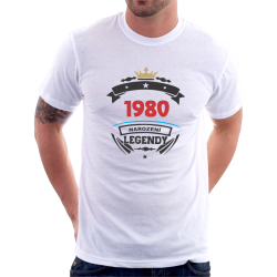 Pánské triko 1980 narození legendy