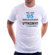 Pánské tričko Můj věk 95 nemá vliv na moje výkony. Na požádání předvedu. Dárek k 95 narozeninám