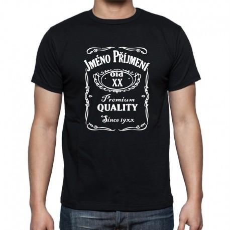 Narozeninové tričko s motivem Jack daniels. Pánské tričko k narozeninám s potiskem jména, datumem narození a rokem narození.