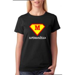 Dámské tričko - super manželka ve stylu supermana. Dárek pro manželku