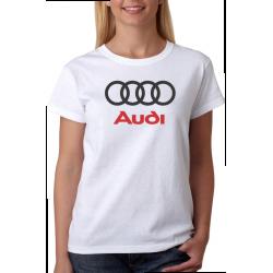 Dámské tričko s potiskem loga automobilu značky audi
