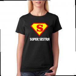 Tričko dámské super sestra ve znaku supermana.