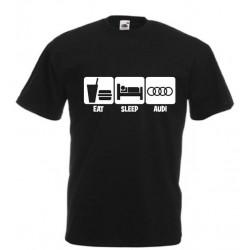 Pánské tričko eat sleep audi