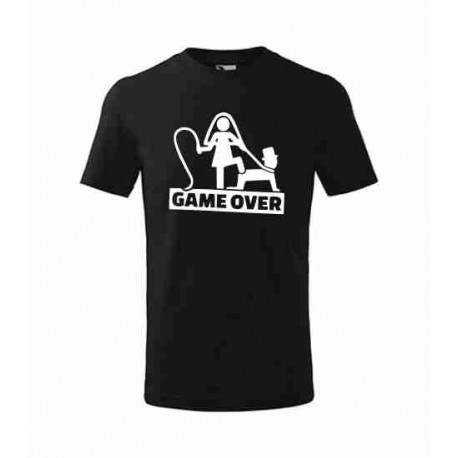 Tričko Game over - rozlučku se svobodou