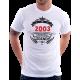 Pánské triko 2003 narození legendy. Dárek k 18 narozeninám.