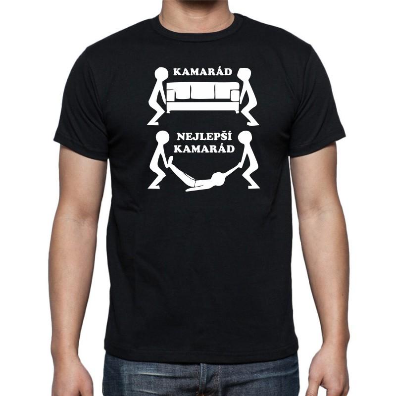 07b785c91cb Kamarád-Nejlepší kamarád - Pánské Tričko s vtipným potiskem